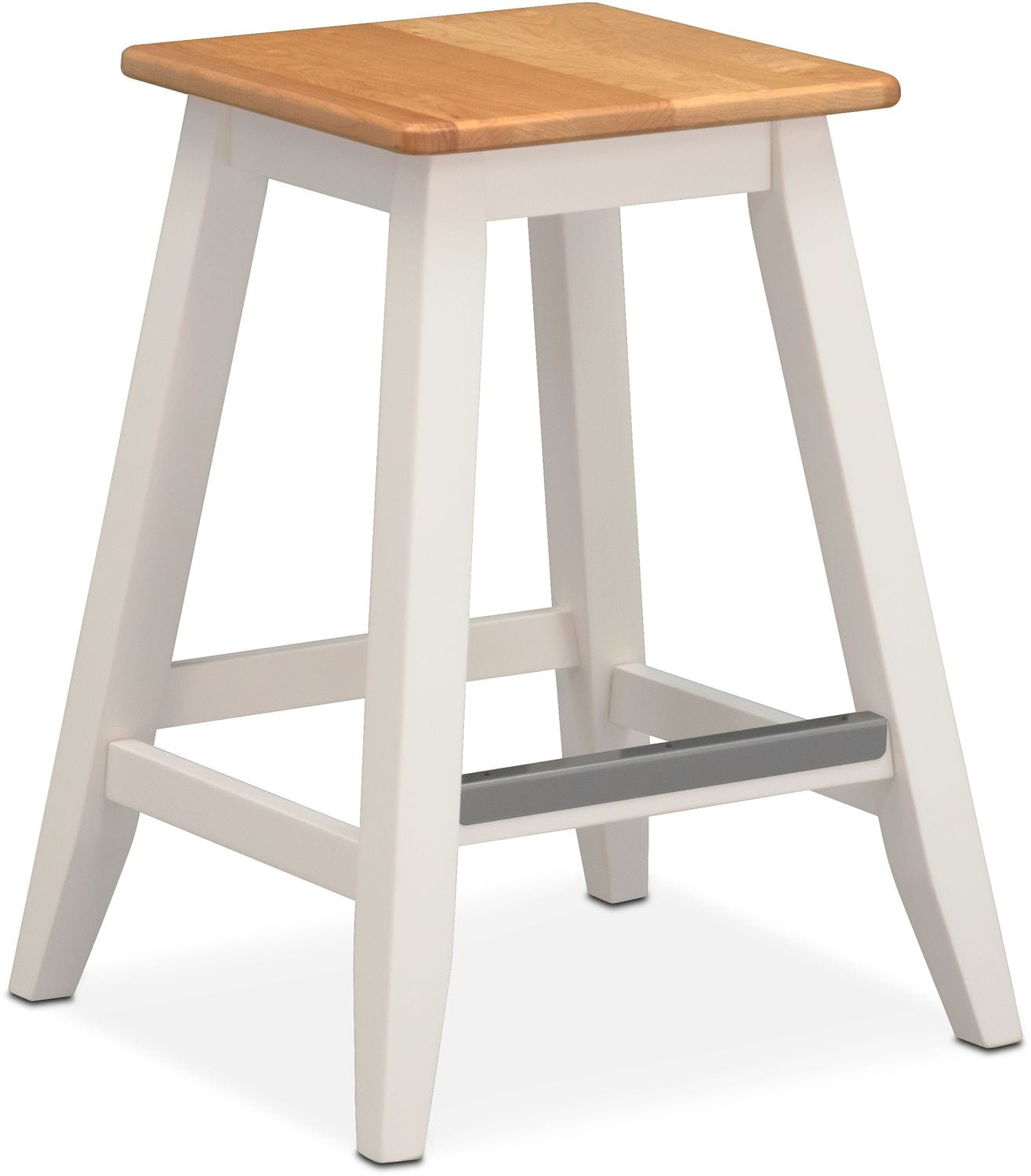 Nantucket Counter-Height Stool - Maple and White