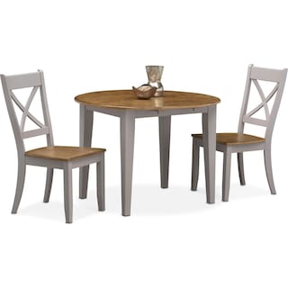 Nantucket Drop-Leaf Table and 2 Side Chairs