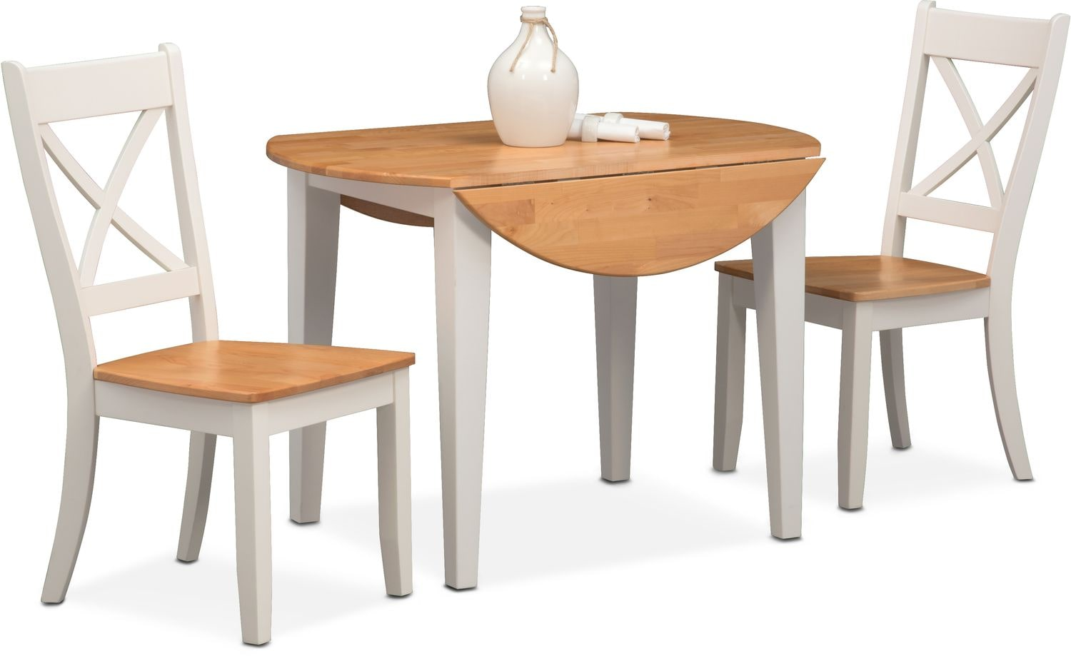 Nantucket Drop Leaf Table And 2 Side Chairs Maple And