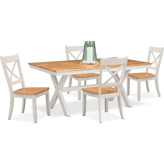 The Nantucket Dining Collection Maple and White Value City