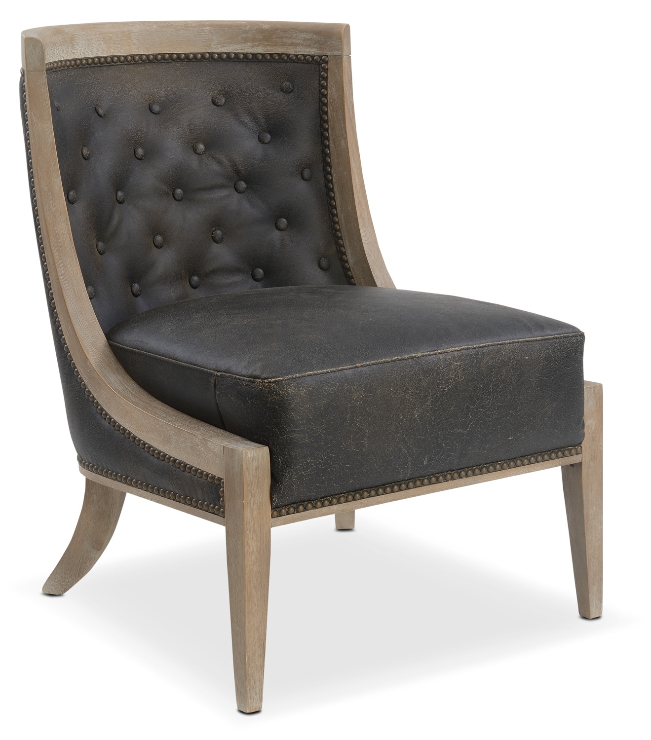 Living Room Furniture - Pablo Accent Chair - Brown
