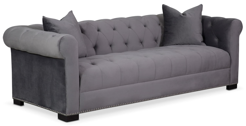 Living Room Furniture - Couture Sofa - Gray