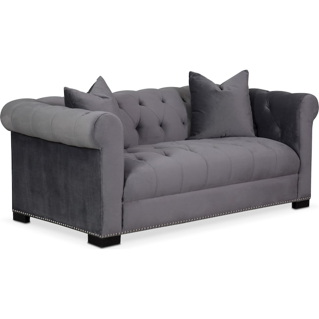 Couture Apartment Sofa - Gray | Value City Furniture and Mattresses