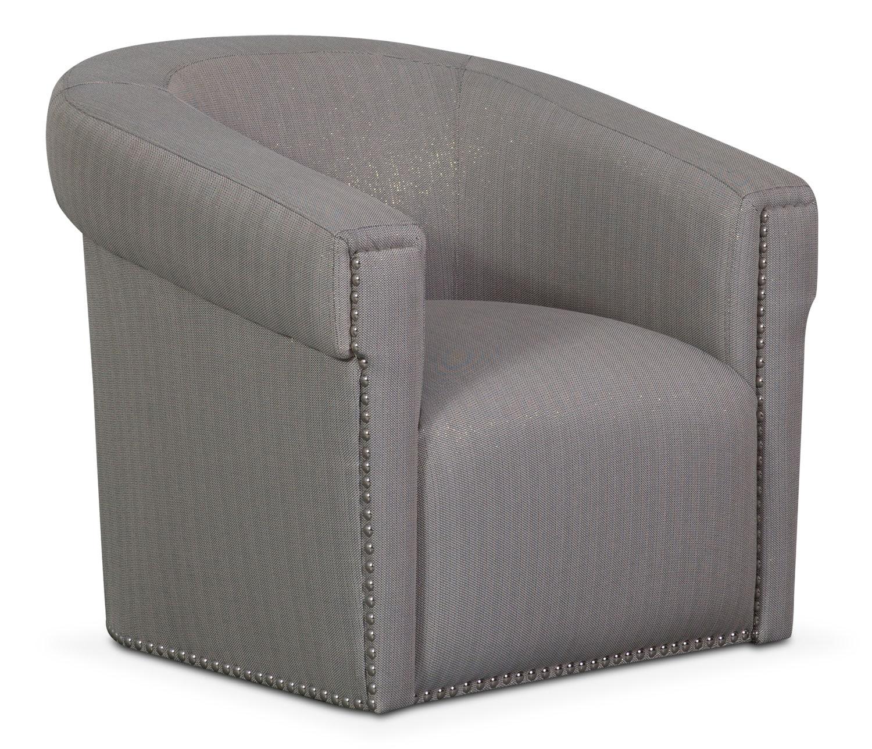 Couture Sofa Chair and Swivel Chair Set Indigo