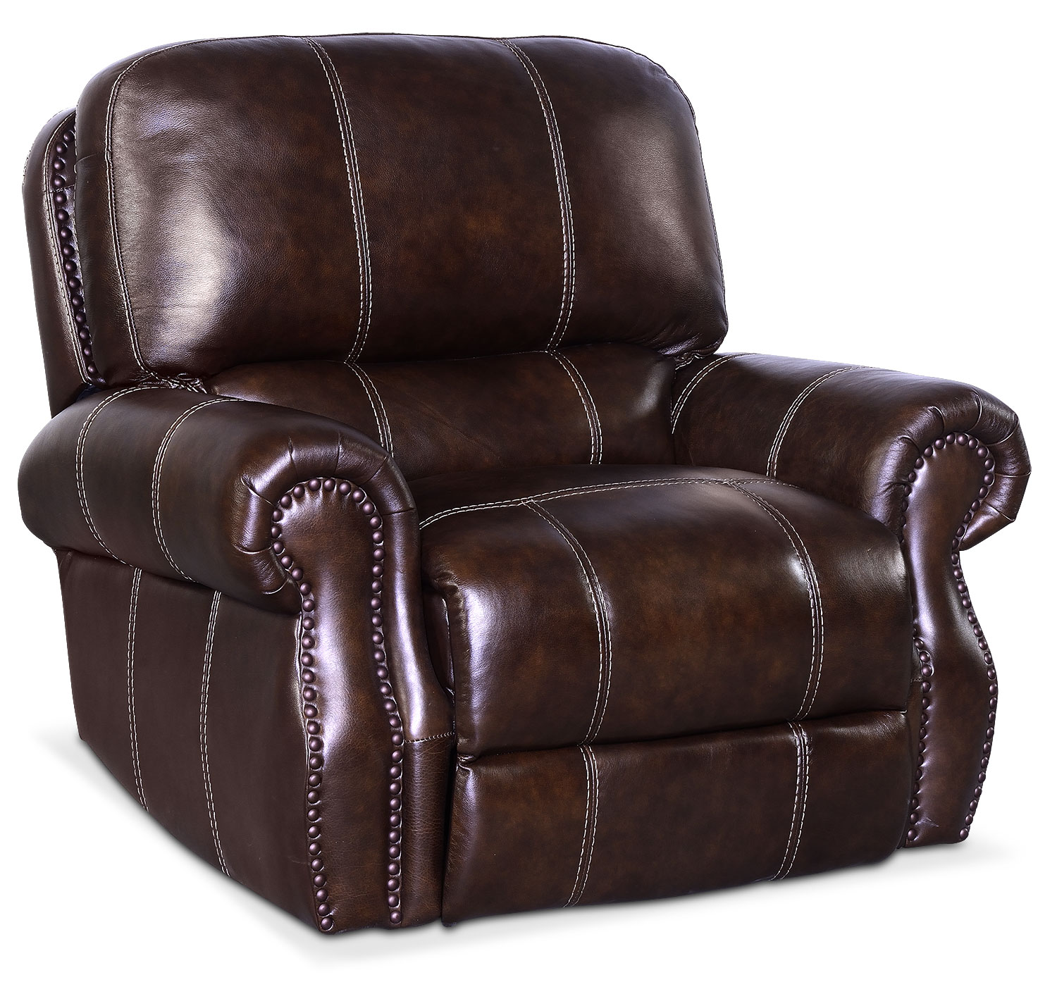 Living Room Furniture - Dartmouth Power Recliner - Chocolate