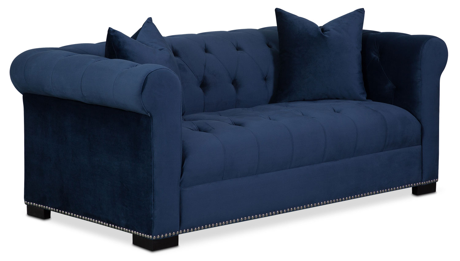 couture apartment sofa indigo