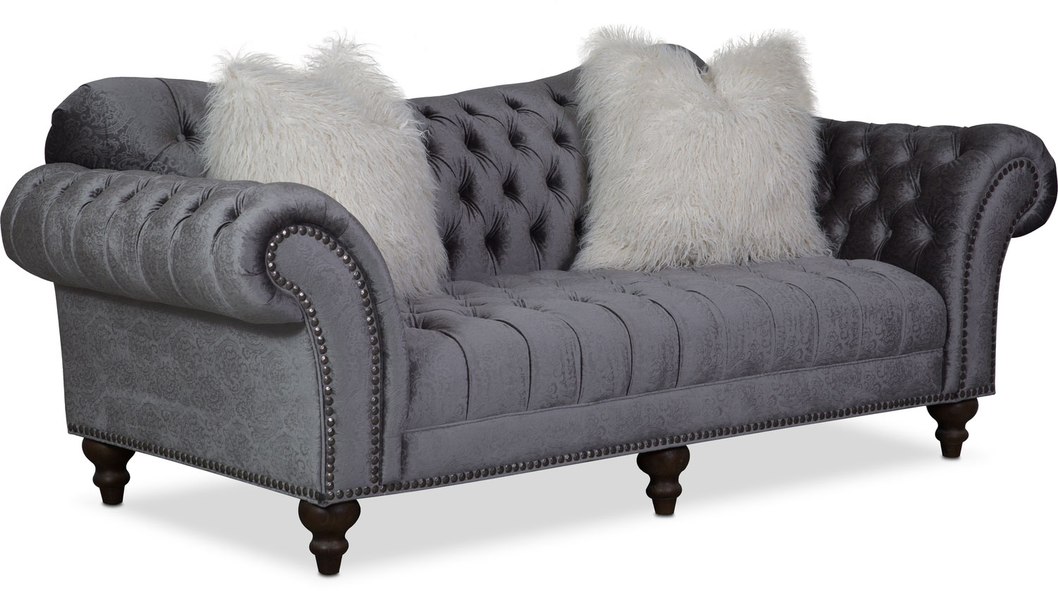 Living Room Furniture - Brittney Sofa - Charcoal