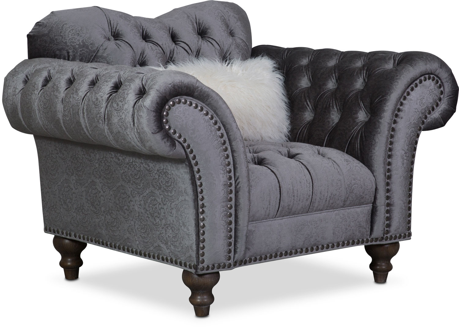 Living Room Furniture - Brittney Chair - Charcoal