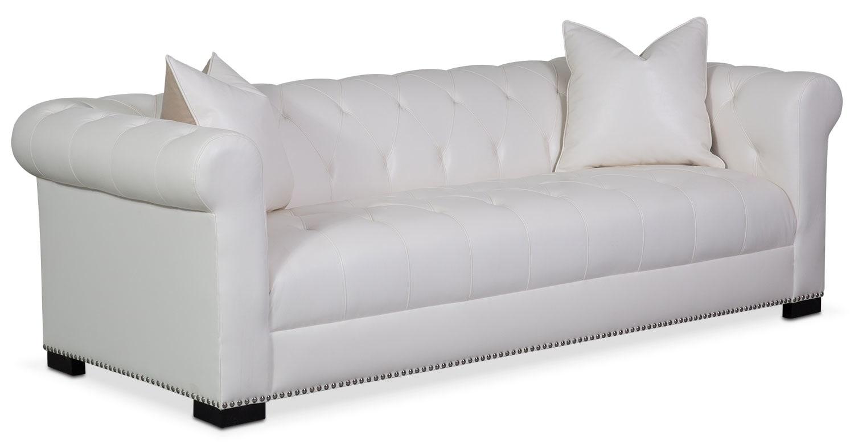 Living Room Furniture - Couture Sofa - White