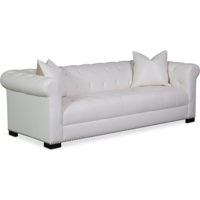 Living Room Furniture - Couture Sofa - White