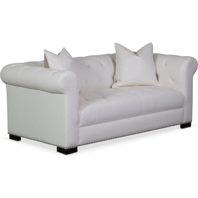 Living Room Furniture - Couture Apartment Sofa - White