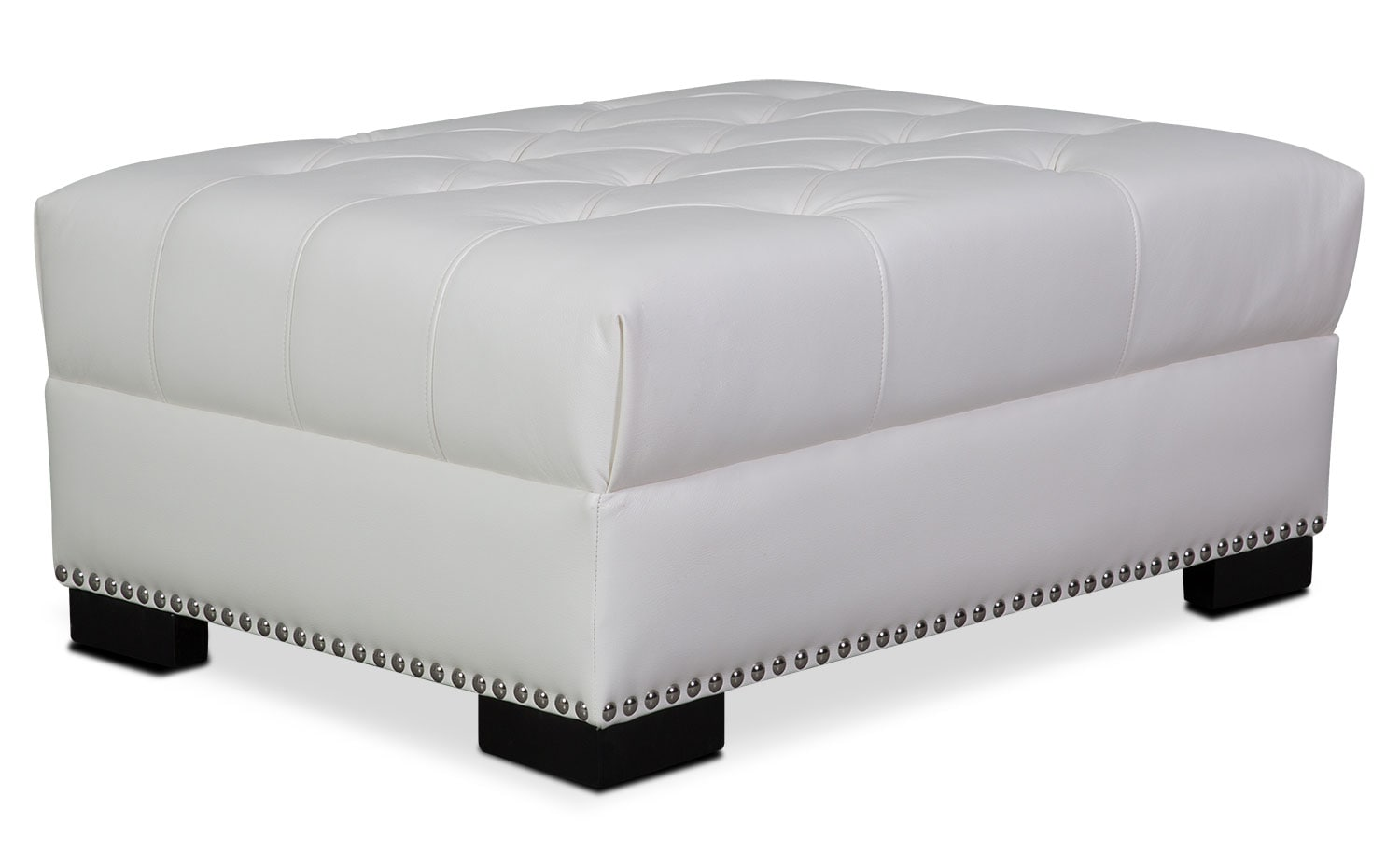 Living Room Furniture - Couture Ottoman - White