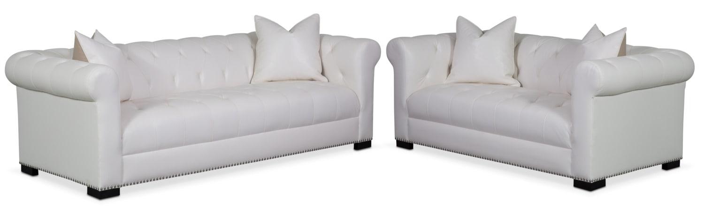 Living Room Furniture - Couture Sofa and Apartment Sofa Set - White
