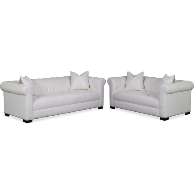 Living Room Furniture - Couture Sofa and Apartment Sofa Set - White