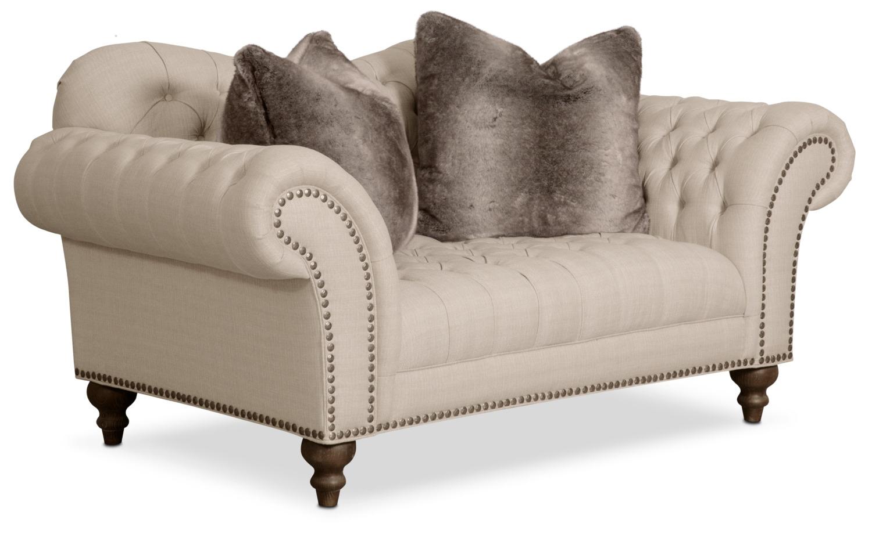 Living Room Furniture - Brittney Loveseat - Linen