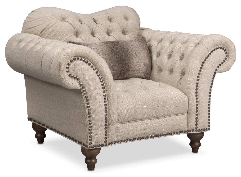 Living Room Furniture - Brittney Chair - Linen