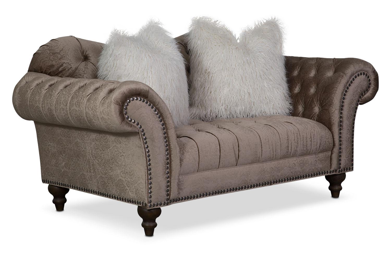 Living Room Furniture - Brittney Loveseat - Champagne