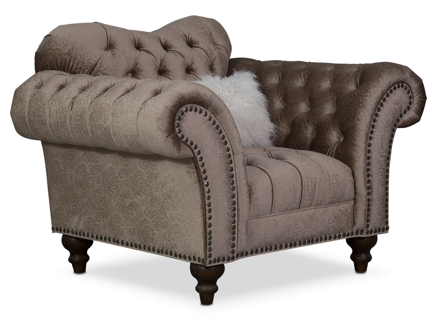Living Room Furniture - Brittney Chair - Champagne