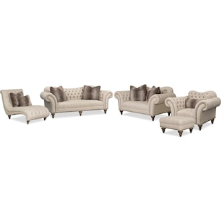 The Brittney Living Room Collection - Linen