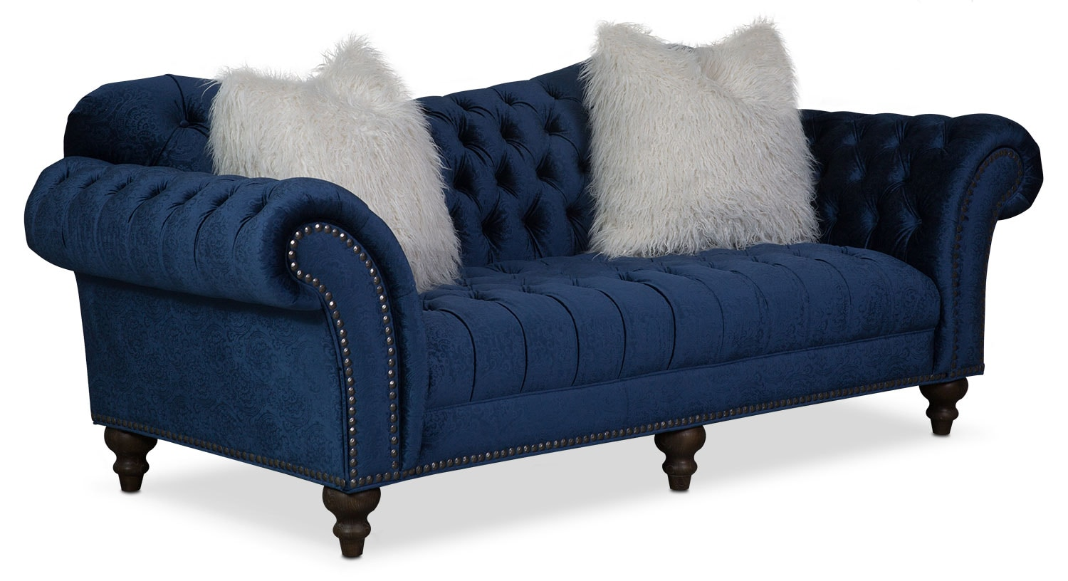 Brittney Sofa Loveseat And Chaise Set Navy Value City