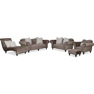 The Brittney Living Room Collection - Champagne