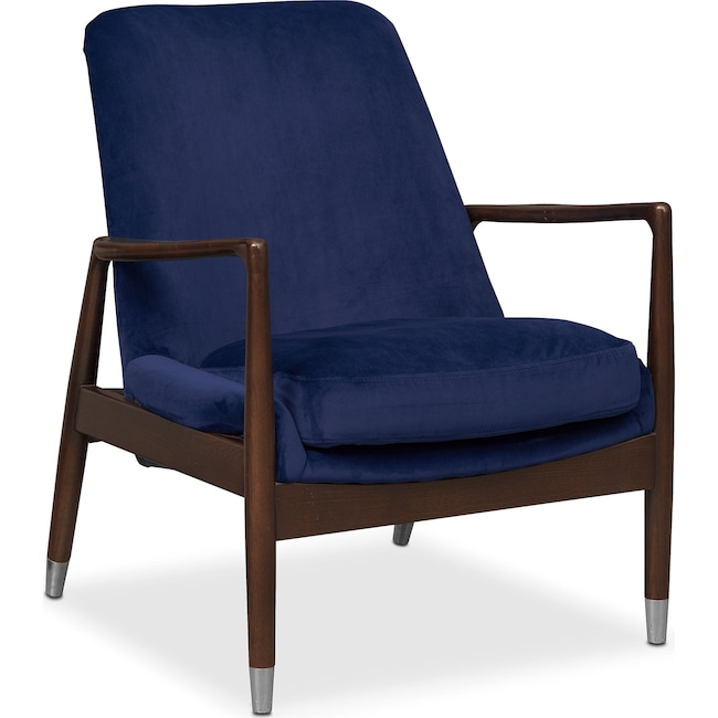 Living Room Furniture - Mastro Accent Chair - Blue