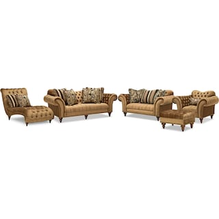 The Brittney Living Room Collection - Bronze