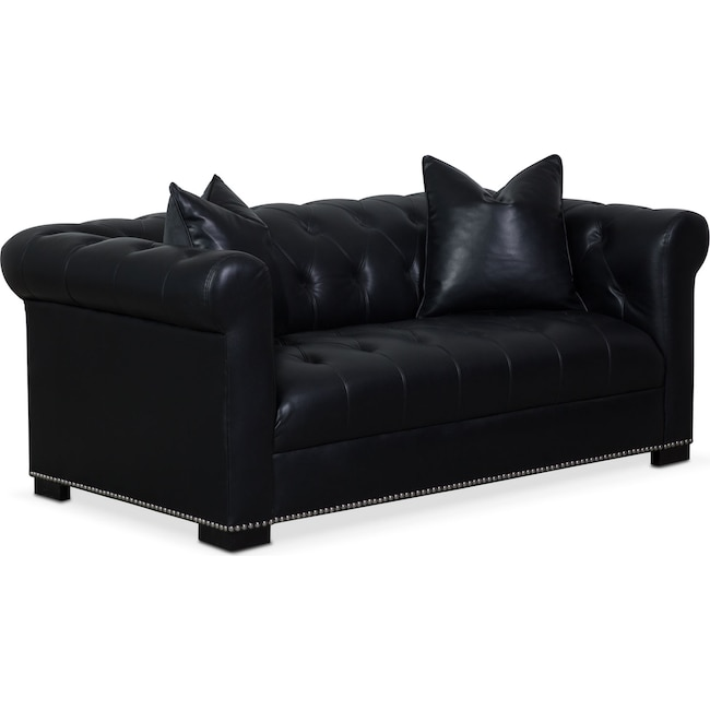 Living Room Furniture - Couture Apartment Sofa - Black