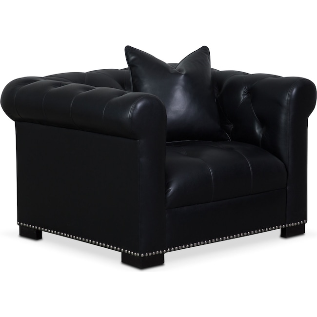 Living Room Furniture - Couture Chair - Black