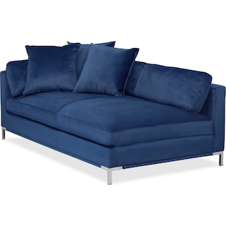 Moda Right-Facing Chaise - Blue