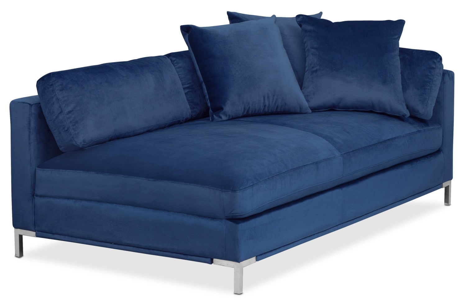Living Room Furniture - Moda Right-Facing Chaise - Blue