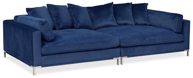 Moda 2 Piece Sofa Blue Value City Furniture And Mattresses