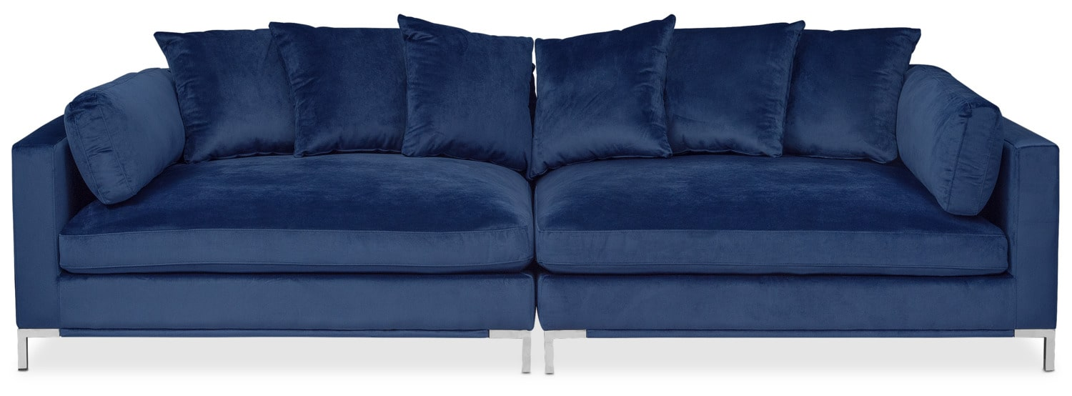 Moda 2 Piece Sofa   Blue