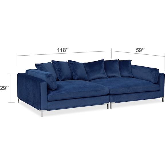 Living Room Furniture - Moda 2-Piece Sofa