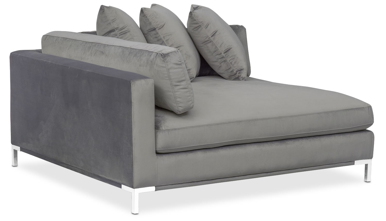 Living Room Furniture   Moda Corner Sofa   Gray