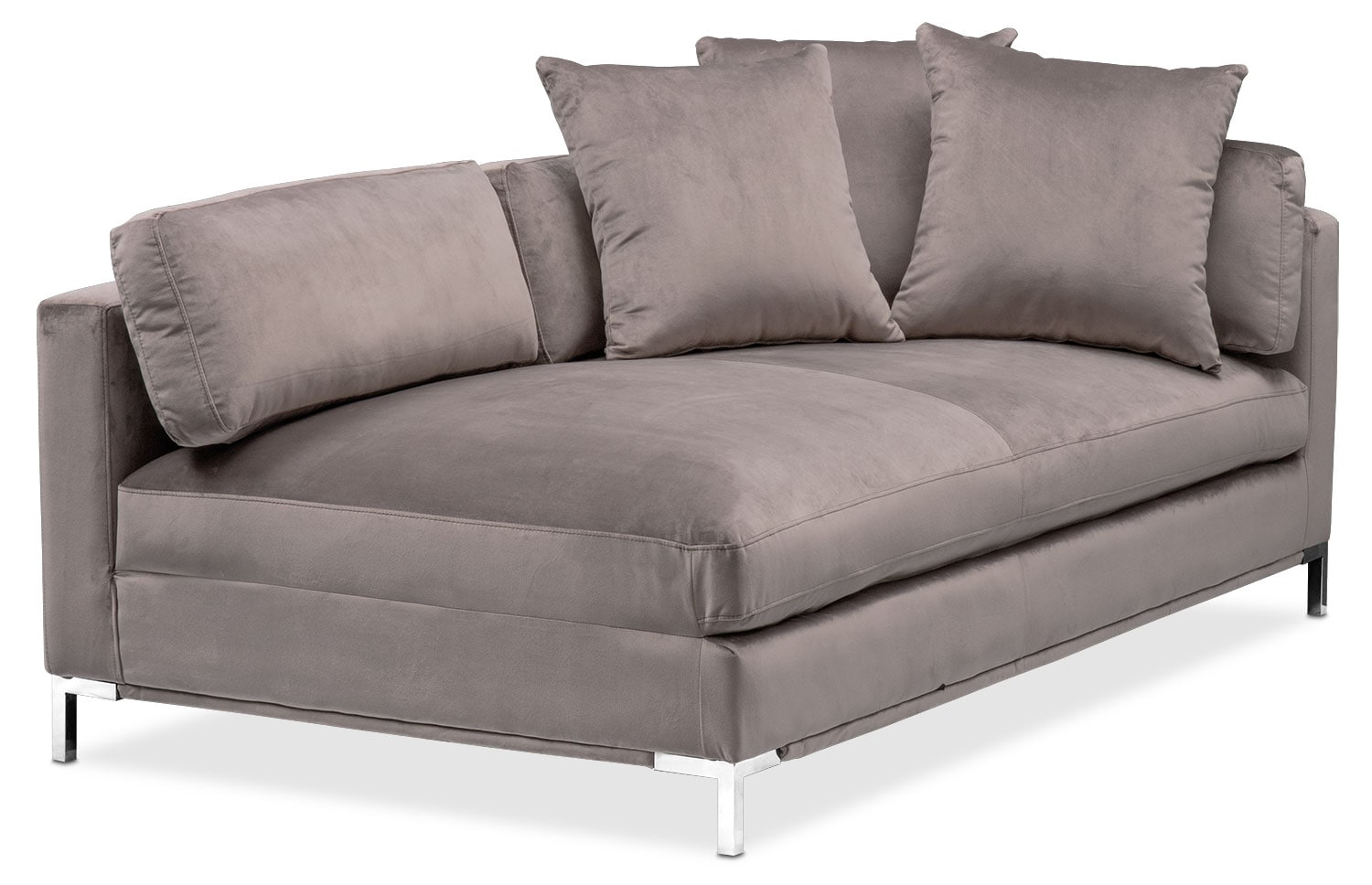 Living Room Furniture - Moda Right-Facing Chaise - Oyster
