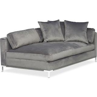 Moda Left-Facing Chaise - Gray