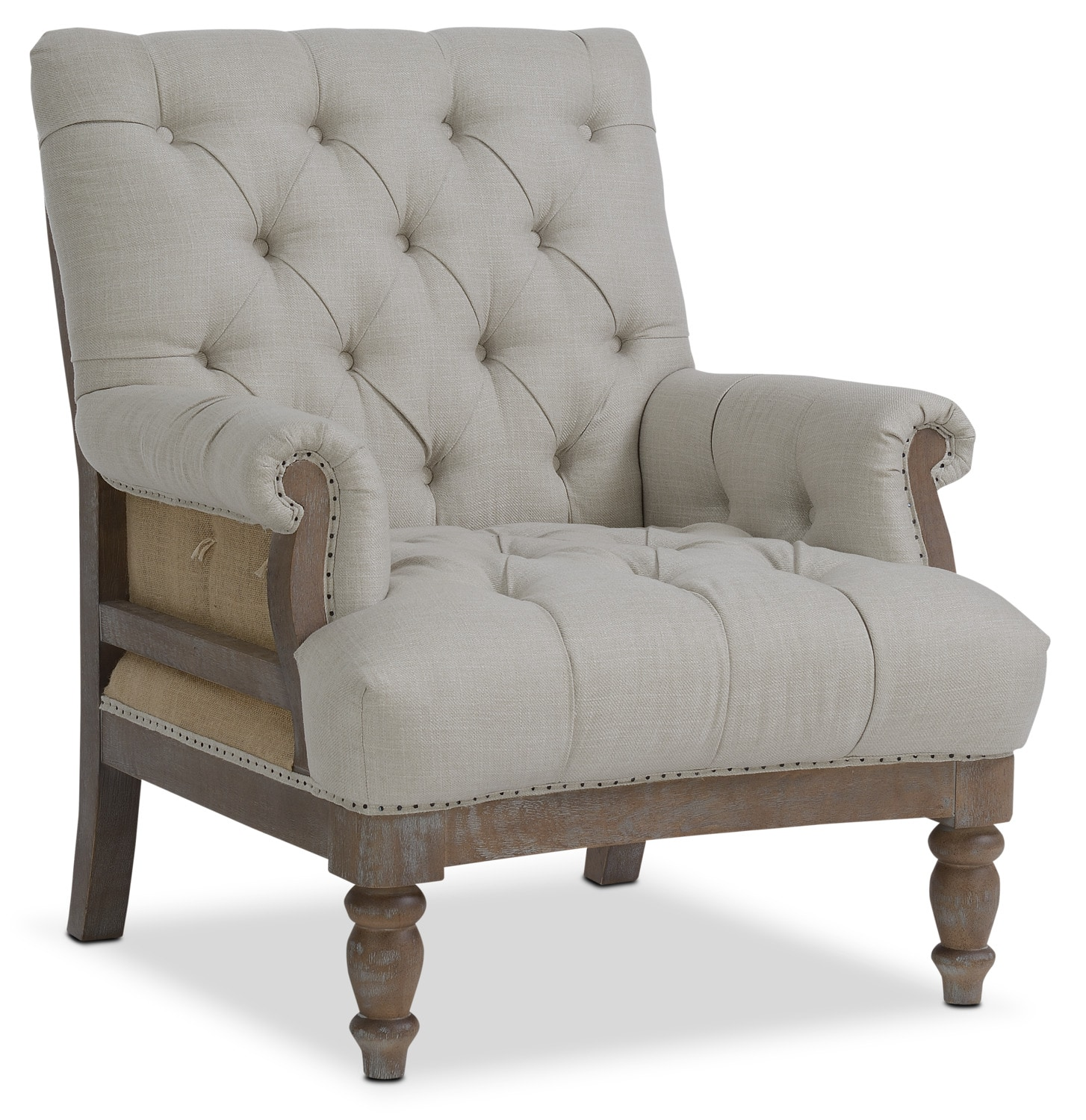 Accent Furniture For Living Room: Bridget Accent Chair - Cream