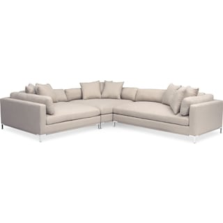 Moda 3-Piece Sectional with Right-Facing Chaise - Ivory