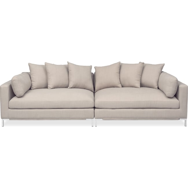Living Room Furniture - Moda 2-Piece Sofa - Ivory