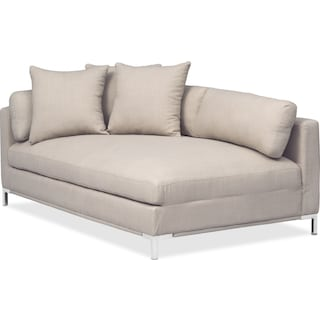 Moda Left-Facing Chaise - Ivory