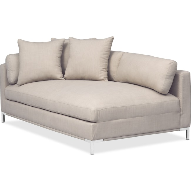Living Room Furniture - Moda Left-Facing Chaise - Ivory