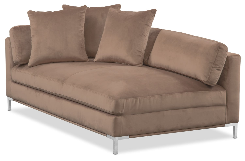 Moda Left-Facing Chaise - Mushroom