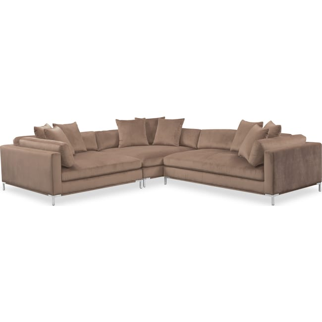 Moda 3 Piece Sectional With Right