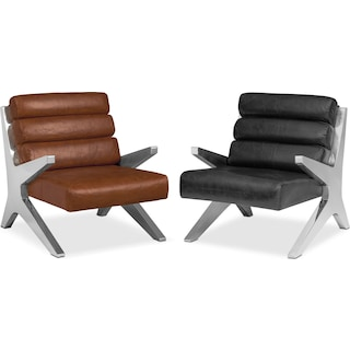 The Keanu Leather Accent Chair Collection