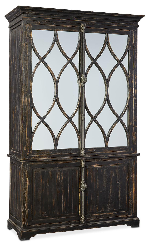 Dorchester Cabinet with Hutch - Rubbed Black