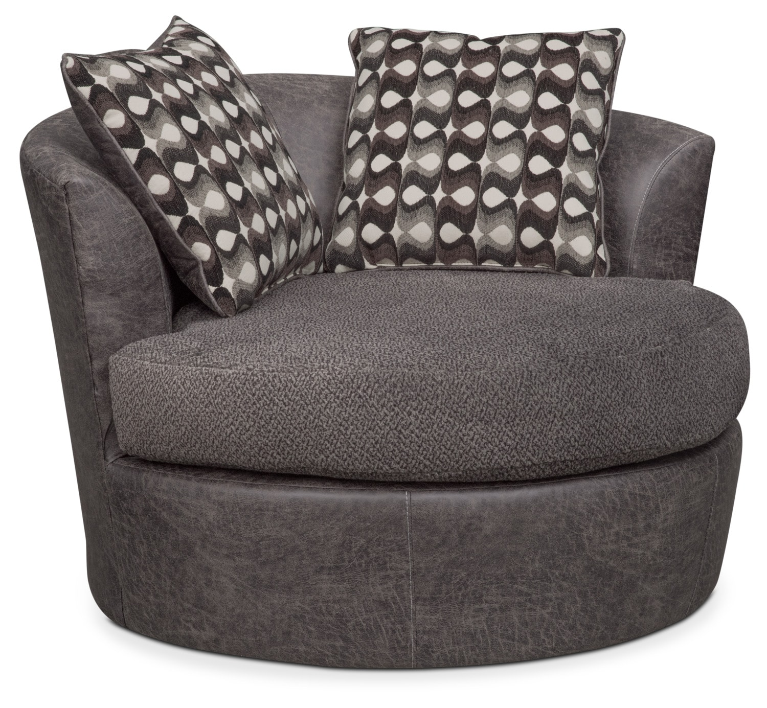 Brando Swivel Chair   Smoke