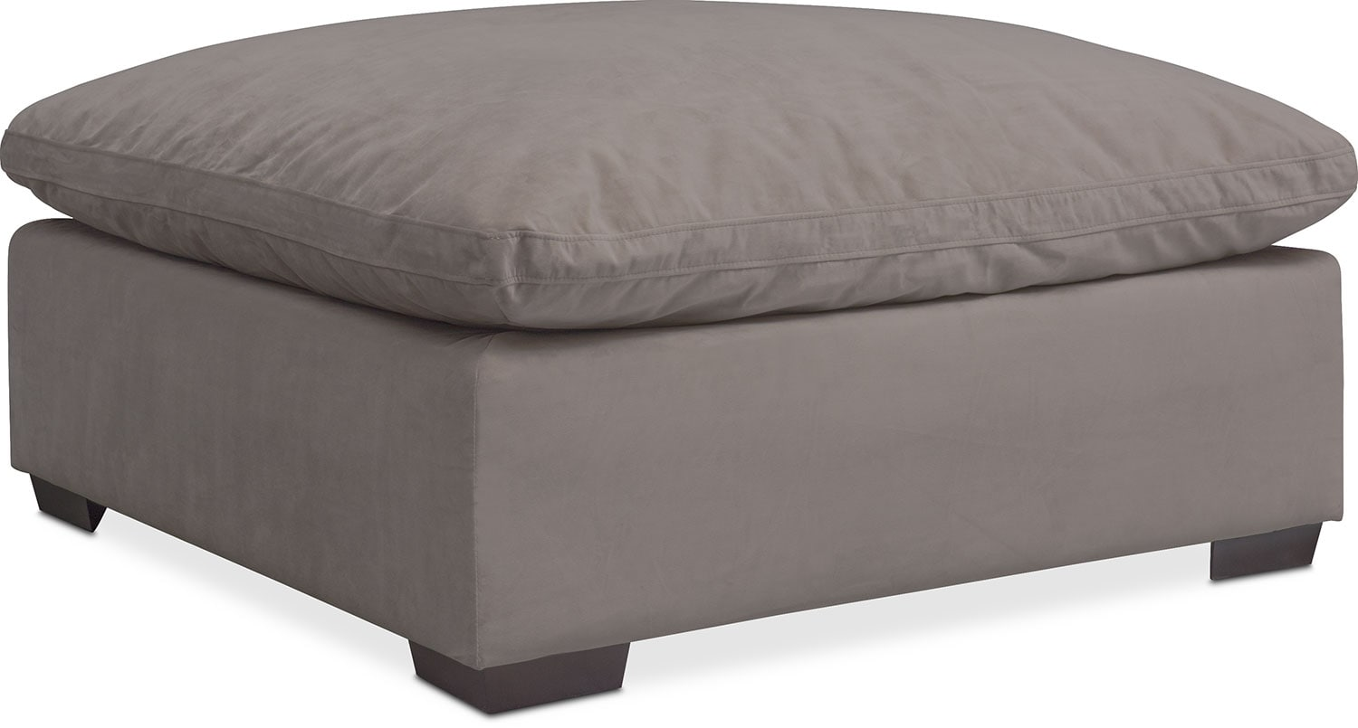 Living Room Furniture - Plush Ottoman