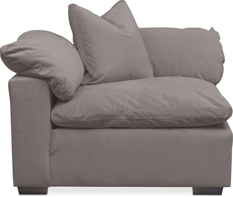 Plush Corner ChairGrayValue City Furniture