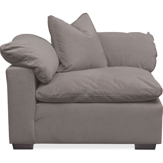 Plush Corner Chair | Value City Furniture and Mattresses